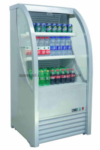 Curve Glass Open Chiller pictures & photos