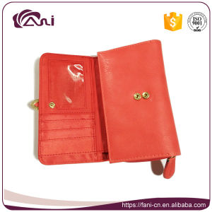 Wholesale Cheap Candy Color Purse, High Quality PU Belt Clip Wallet for Young Ladies pictures & photos
