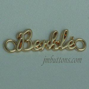 Polishing Gold Fashion Casting Metal Labels for Handbag pictures & photos