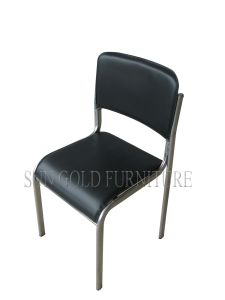 Popular Office Waiting/Meeting Room Chrome Iron Tube Base Chair (SZ-OC138C) pictures & photos