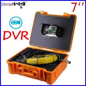 Waterproof Pipe Inspection Camera CR110-7G with 7′′ Digital LCD Screen & DVR Video Recording with 20m to 100m Fiberglass Cable pictures & photos