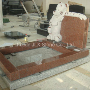 Ruby Red Granite Stone Tiger Carving Children Tombstone pictures & photos