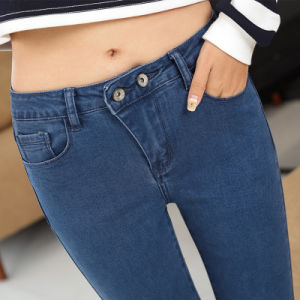 2017 New Fashion Design Lady′s Sexy Tight Demin Ripped Jeans pictures & photos