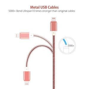 Multi Charger Cables Lightning and Micro USB Cable All Metal Sync and Charging Cable Cord for iPhone Devices, iPad /iPod, Samsung, HTC, Nexus pictures & photos