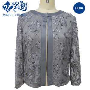 Newstyle Brown Royal Shining Thin Long Sleeve Fashion Women Blouse pictures & photos