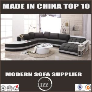 Big Size U Shape Living Room Leather Sofa (LZ-219) pictures & photos