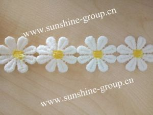 Embroidery Polyester Trim Design Chemical Lace pictures & photos