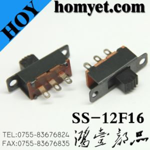 High Quality Spdt DIP Type Slide Switches with Screw Hole (SS-12F16) pictures & photos