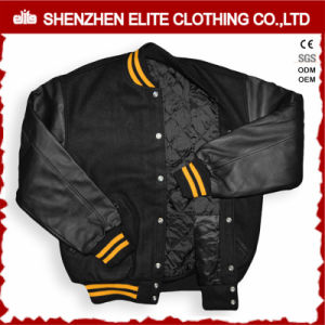 Outdoor Ma-1 Garment Bomber Jacket with Leather Sleeve (ELTBQJ-530) pictures & photos