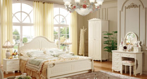 Modern King Size Bed Wooden Bedroom Furniture Set (HC805) pictures & photos