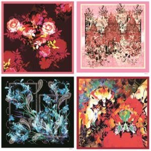 Custom Design High Quality Printing Fashion Silk Scarf (F-006) pictures & photos