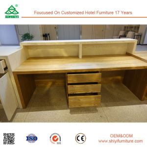 Customized Ash Wood Natural Color Reception Desk pictures & photos