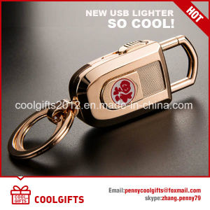 2017 Metal Electronic USB Charged Key Chain Cigarette Lighter pictures & photos