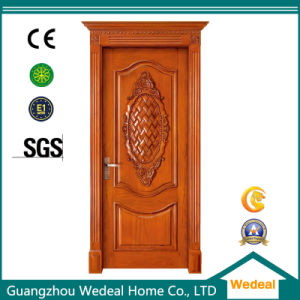 Classical Entry Solid Wooden Door with Door Handle Lock pictures & photos
