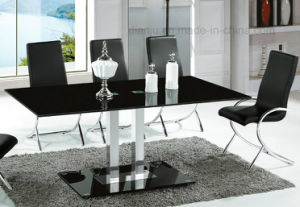 Black Glass Top Modern Style Furniture Dining Table (A2712) pictures & photos