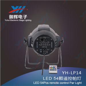 Remote Control 54PCS 3W LED PAR RGBW Mixing Stage Lighting LED PAR DJ Party Show Light pictures & photos