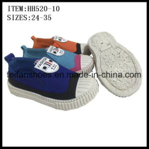 New Design Kids Canvas Shoes Injection Sport Shoes Wholesale (HH520-10) pictures & photos