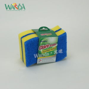 S Shaped High-Density Cleaning Sponge Scourer for Kitchen Cleaning pictures & photos