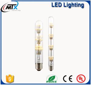Clear Glass 2700K LED T10 Tubular Light Bulb pictures & photos