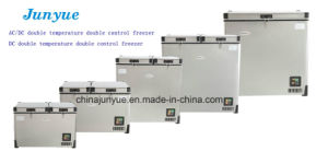 12/24V DC Double Temperature Deep Chest Solar Car Stainless Steel Freezer Scd-85L pictures & photos