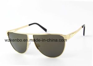 Semi-Round Shape Frame with Full Metal Rim Sunglasses Km16155 Special Temple Deign pictures & photos