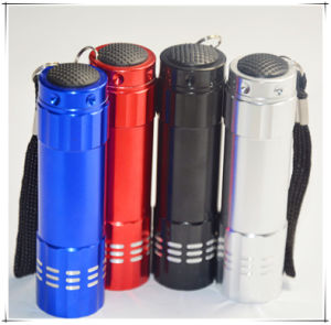 9 LED Torch Light with Aluminum Case pictures & photos