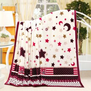 Luxury Soft Flannel Fleece Blanket with Binding Edge pictures & photos