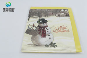 Festival Greeting Colorful Paper Printing Gift Card (Snowman) pictures & photos