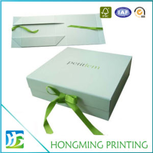 Luxury Gift Box Packaging Custom with Ribbon pictures & photos