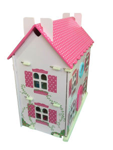 Wooden Pink Doll House Toy for Kids and Children pictures & photos