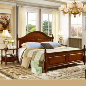 Wood Bedroom Furniture Set with Bed and Dresser Cabinet pictures & photos