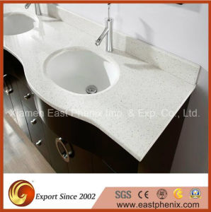 Sparkling White Quartz Stone Vanity Top pictures & photos