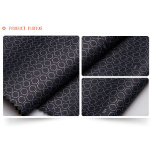 C1141/1 Waterproof Polyester Pongee Printed Elastane Bonded PU Fabric for Outdoor Sports Clothing pictures & photos