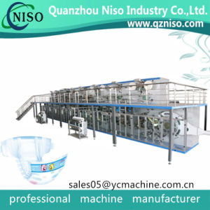 Low Speed Low Capacity Semiautomatic Disposable Baby Nappy Baby Diaper Machine for New Manufacturer pictures & photos