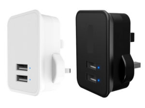 UK EU USB Travel Wall Charger for iPhone 7 iPad pictures & photos