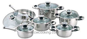 Cooker-12PCS Stainless Steel Wide Edge Cookware Set pictures & photos