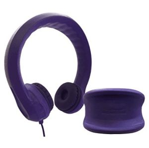 Purple Limited-Volume Wired Kids Headphones with Padded Cushions and Removable Size-Adjuster Safe for Children (OG-K100) pictures & photos