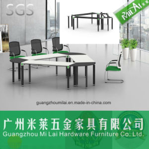 Perfect Triangular Meeting Table with Adustable Stainless Steel Leg pictures & photos