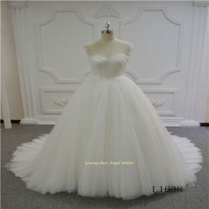Elegant Sleeveless Lace Ball Gown Wedding Dress pictures & photos