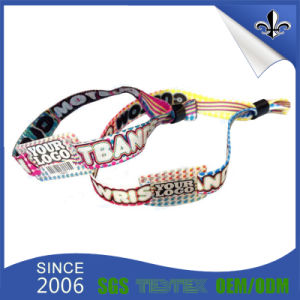 Fashion Music Show Fabric Wristband with One Time Lock pictures & photos