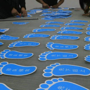 Custom Die Cut Vinyl Floor Graphics, UV Protection Vinyl Floor Decals pictures & photos