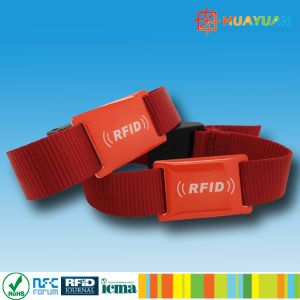 Music festivals Comfortable Passive Fabric RFID Wristband Tag pictures & photos