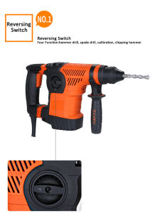 Kynko 1050W Multi-Function Power Tools Rotary Hammer (6881) pictures & photos