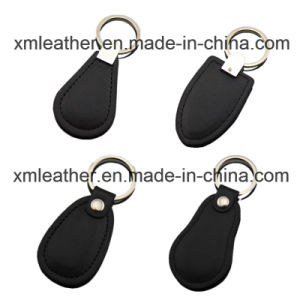 Top Grade PVC Leather Design Key Ring Keychain Holder pictures & photos