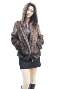Women′s Fashion Hooded Fur OEM Order 006 pictures & photos