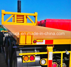 High Quality Flatbed Container Trailer Dumping pictures & photos