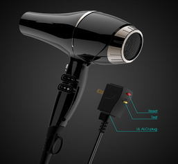 Ionic AC Blow Dryer with Alci Plug and Rubberized Cord pictures & photos
