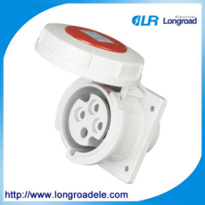 IP67 4p 32A Oblique/Straight Industrial Socket pictures & photos