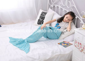 Custom Size 70% Orlon and 30% Cotton Fabric Mermaid Blanket pictures & photos