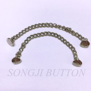 Garment Accessories Brass Link Chain with Alloy Metal Button pictures & photos